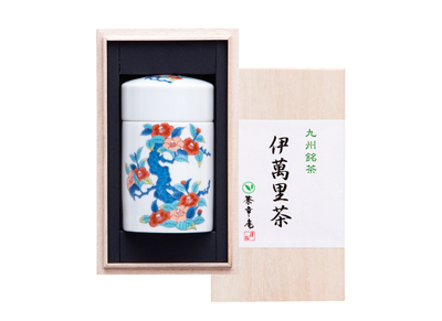 Imari tea and Japanese tea containers assortment (Special wooden box)