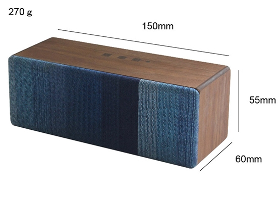 size of Eco-friendly Bluetooth Wooden Speaker SOUND FLY SJ
